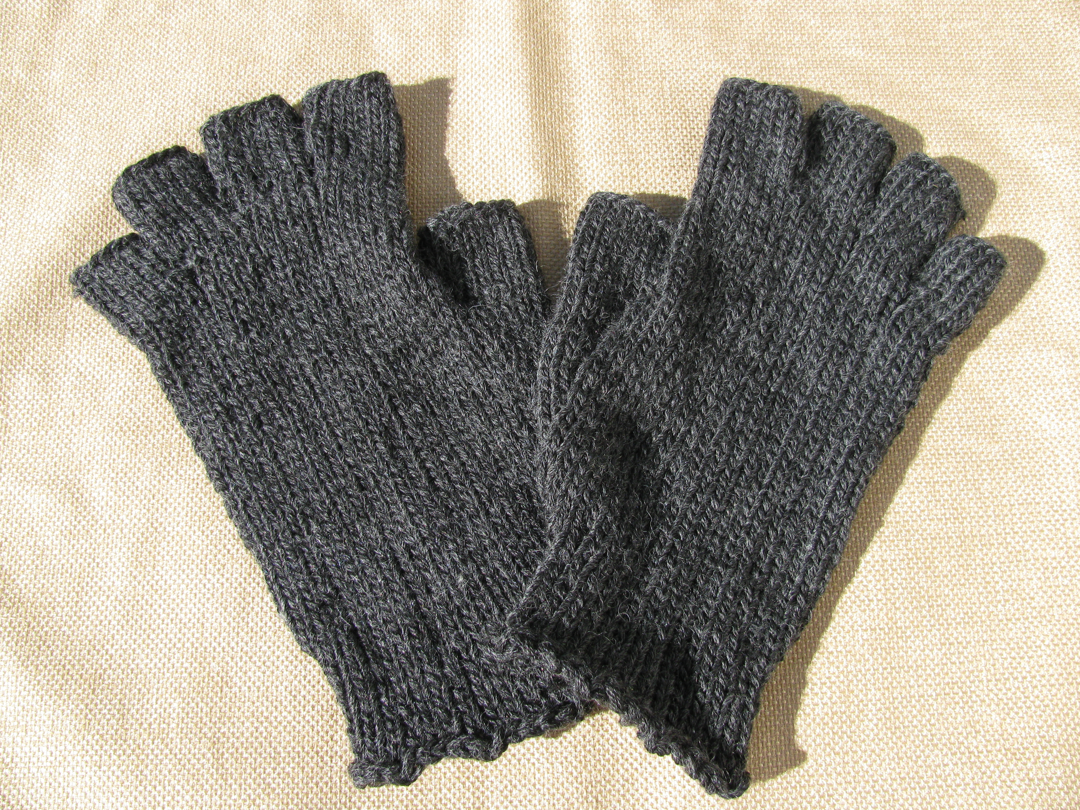 Mens Fingerless Gloves Knitting Pattern Mens Fingerless Gloves Ready To Ship