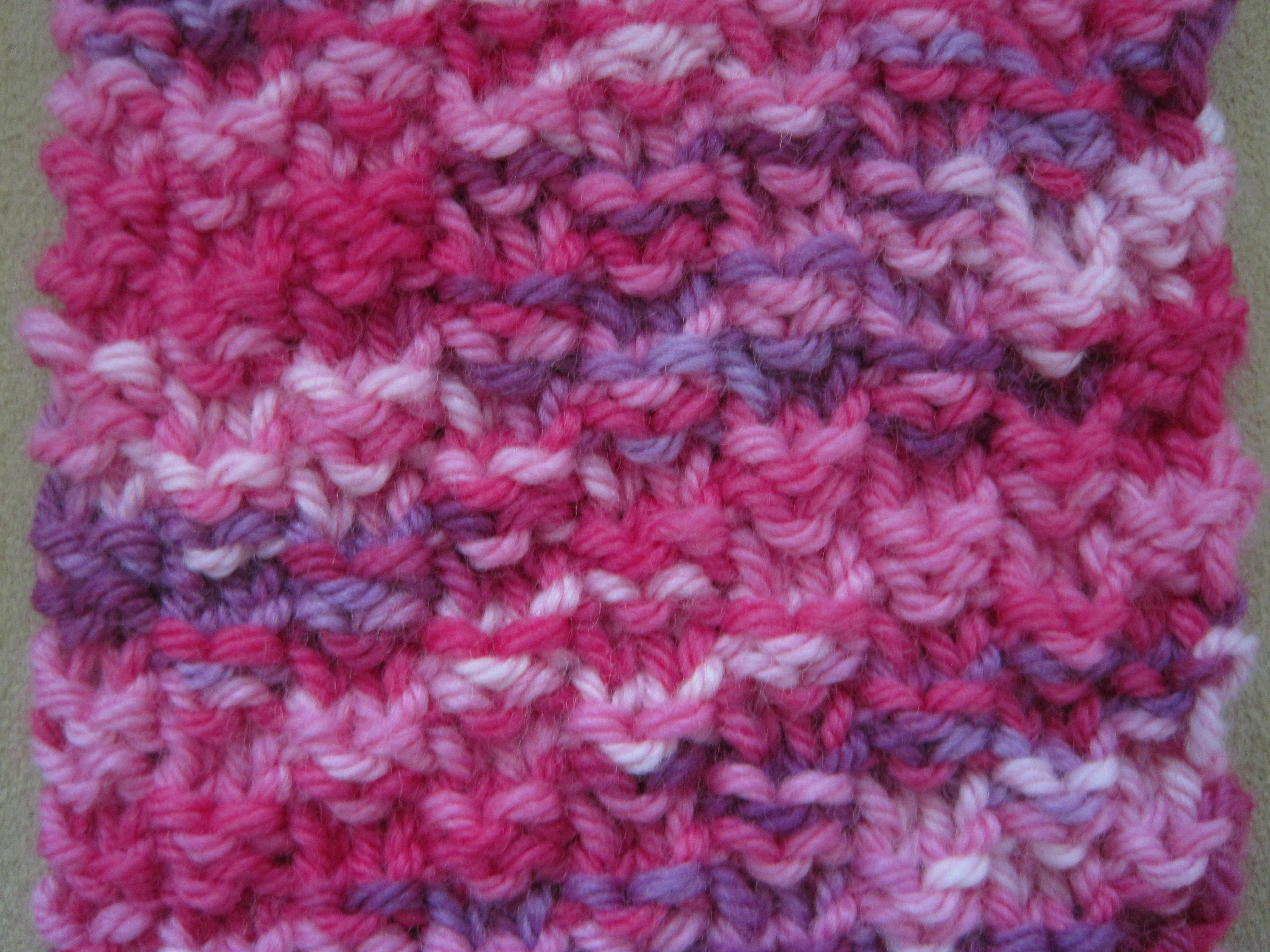 Creative Image of Moss Stitch Scarf Knitting Pattern ...