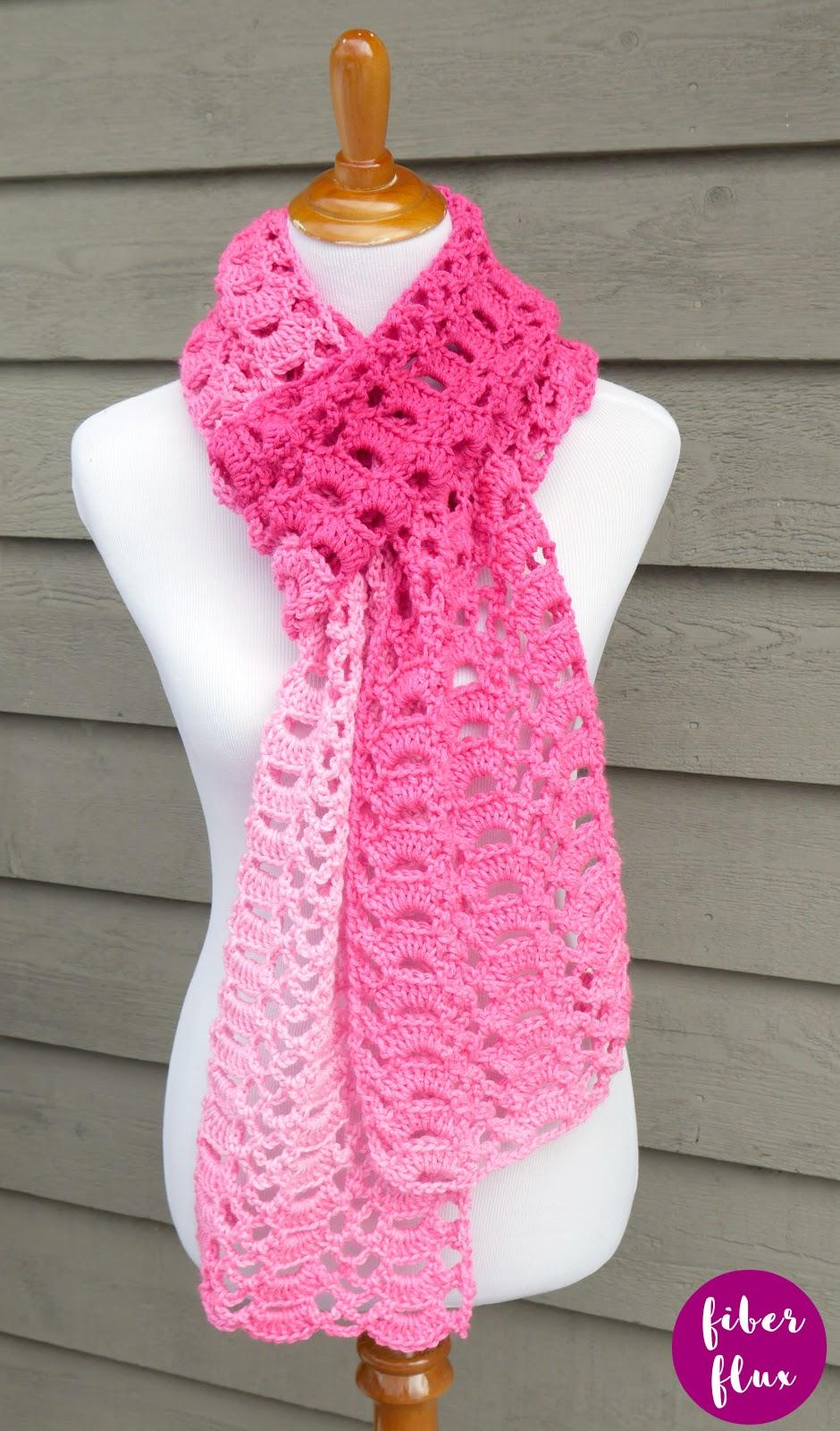 Open Knit Scarf Pattern Fiber Flux Heart You Scarf Free Crochet Pattern Video