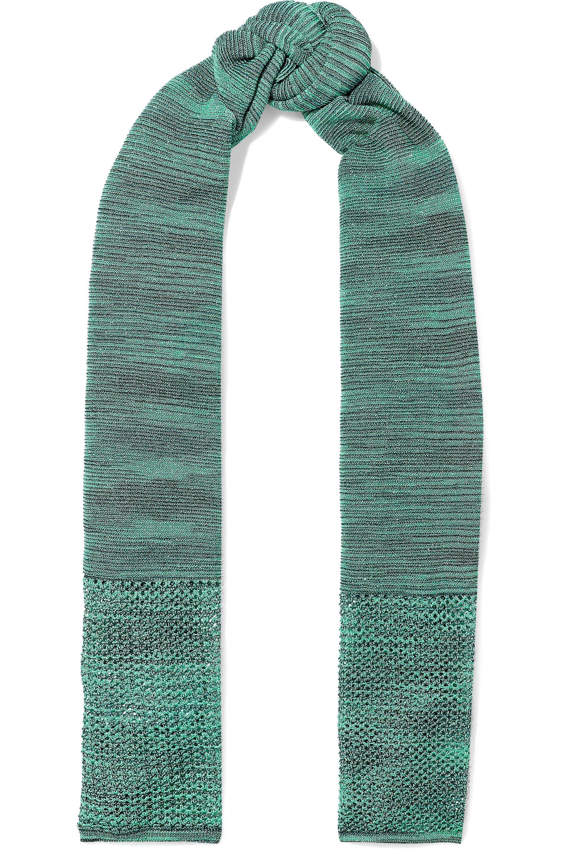 Open Knit Scarf Pattern Lyst M Missoni Woman Open And Crochet Knit Scarf Jade In Green