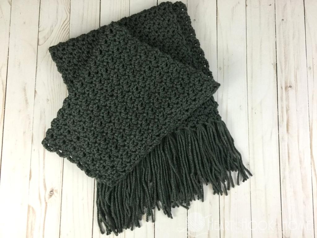 Open Knit Scarf Pattern Simple Scarf For Men Free Crochet Pattern