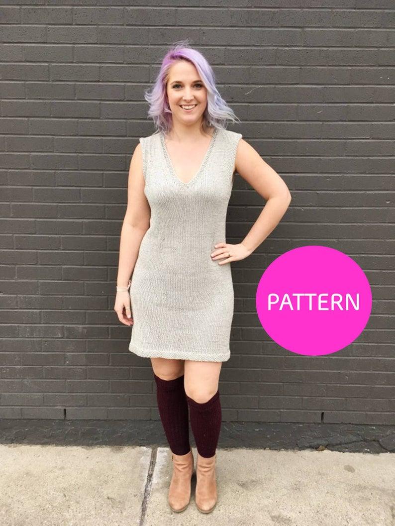 Simple Knit Dress Pattern Knit Pattern No Seam Sweater Dress Pattern Dress Pattern Knit Dress Knit Dress Pattern Modern Knit Dress Pattern Simple Knit Dress