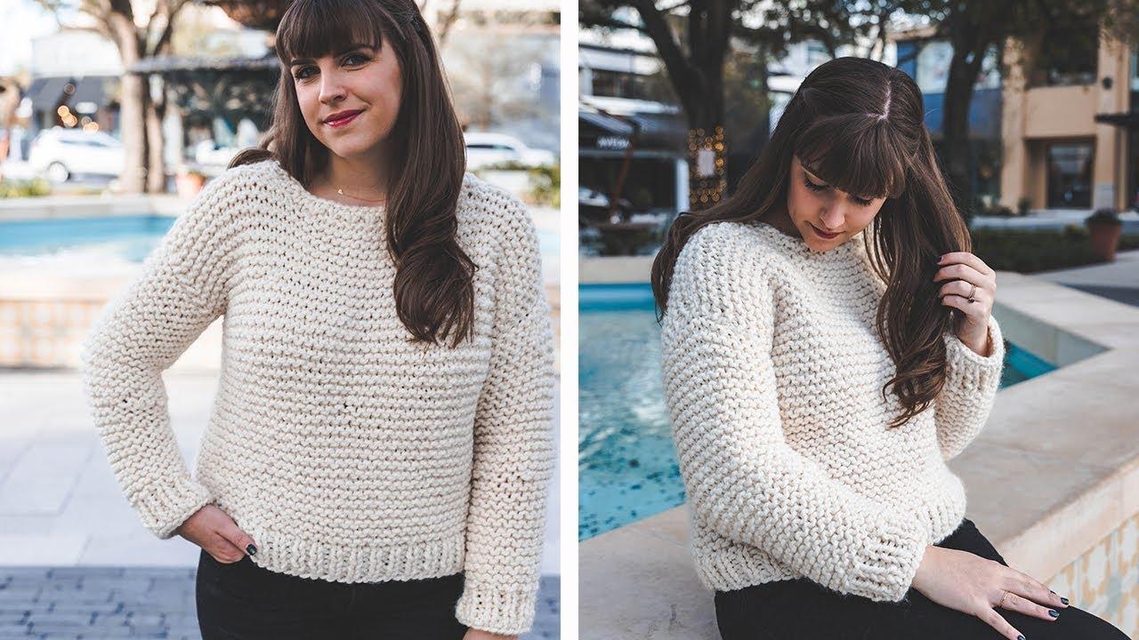 Simple Knit Sweater Pattern Free Simple Knit Sweater Start To Finish