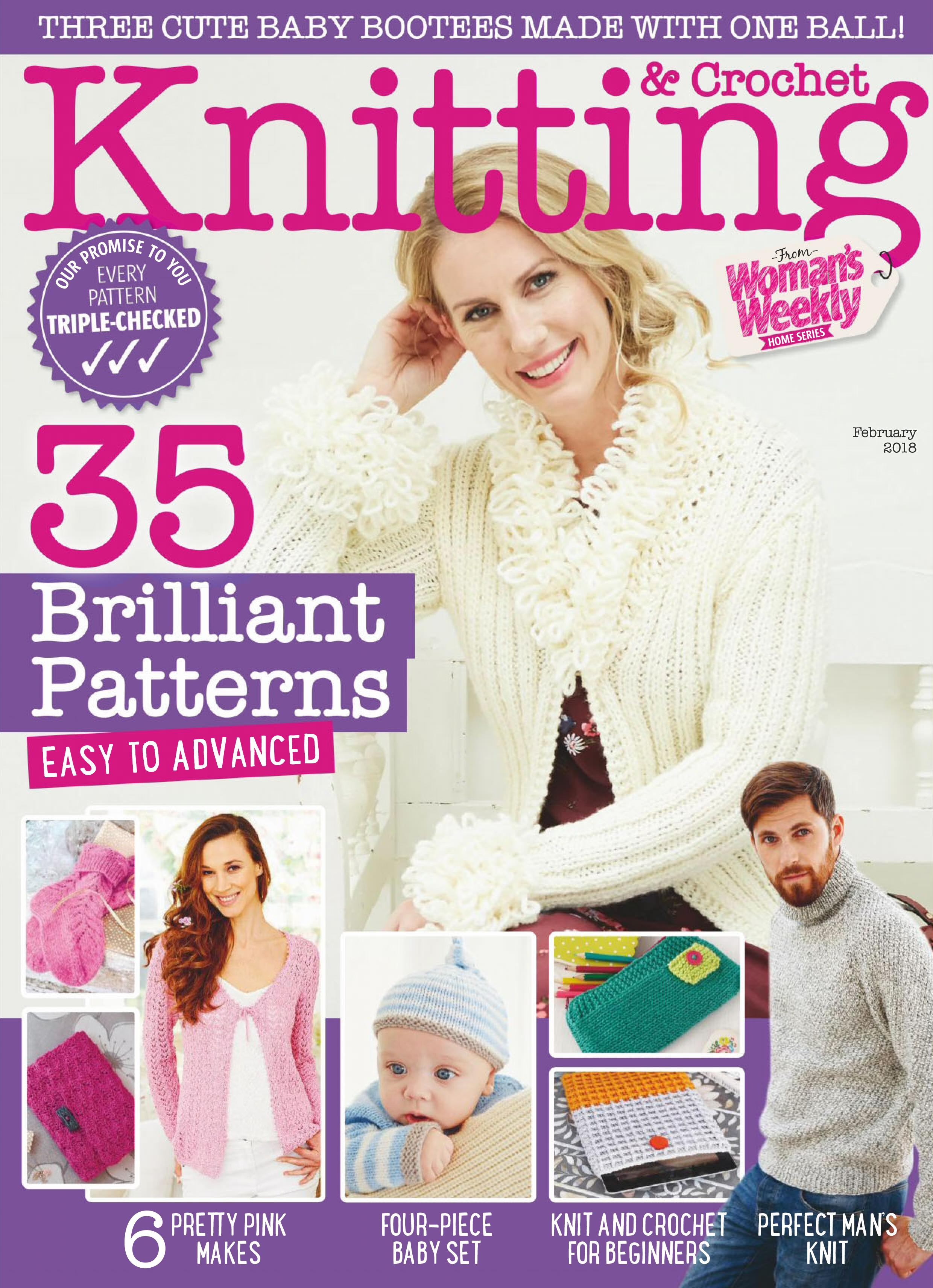 Woman Weekly Knitting Patterns Download Knitting Crochet From Womans Weekly February 2018