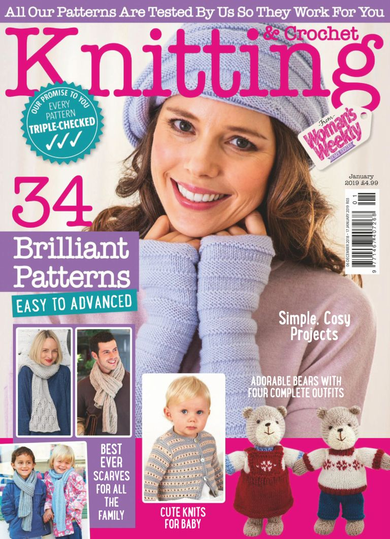 Woman Weekly Knitting Patterns Download Knitting Crochet From Womans Weekly January 2019