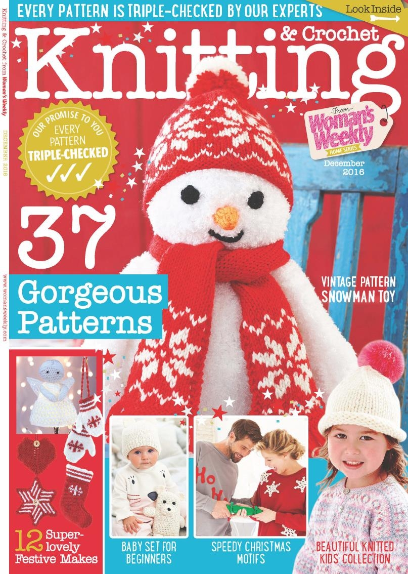 Woman Weekly Knitting Patterns Knitting Crochet From Womans Weekly December 2016 Kpnemo