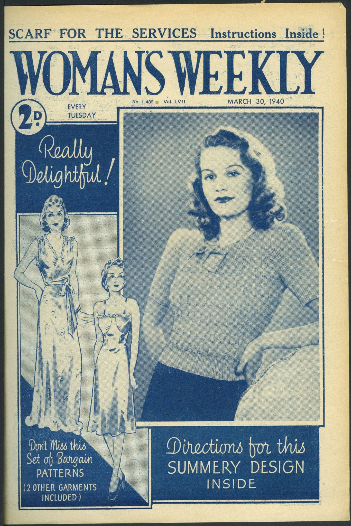Woman Weekly Knitting Patterns Original Vintage 1940 Womens Summer Lace Jumper Knitting Pattern
