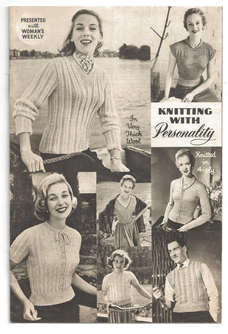 Woman Weekly Knitting Patterns Presented With Womens Weekly Knitting With Personality 50s