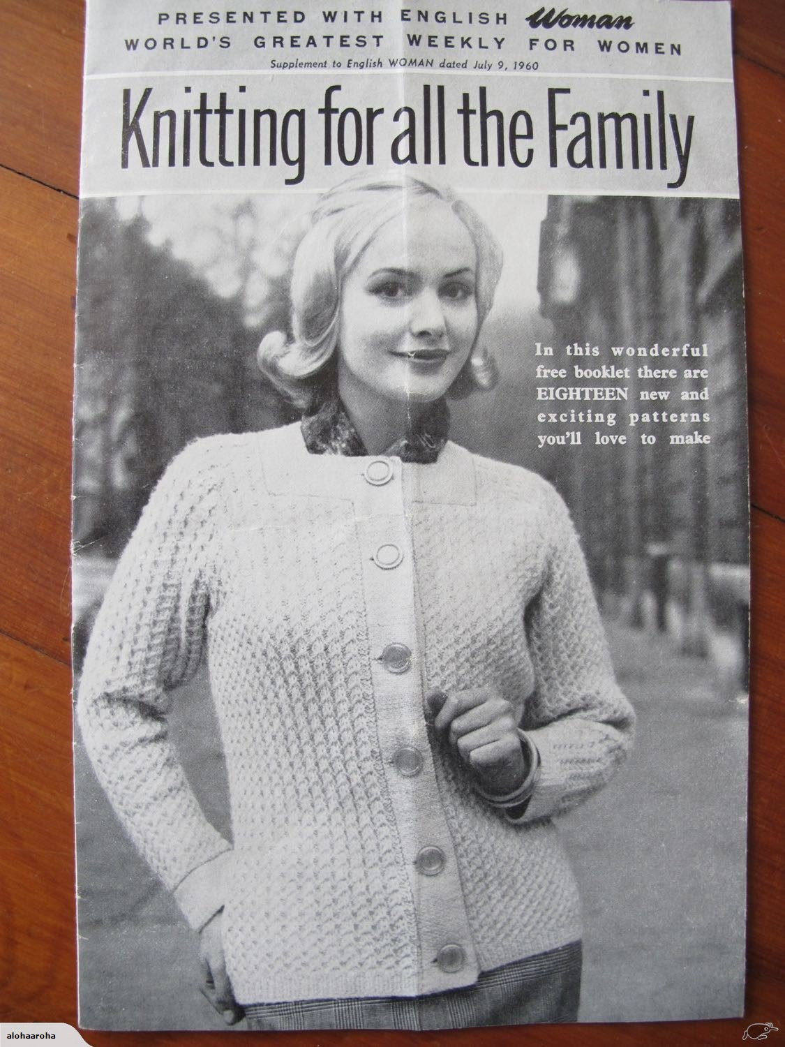 Woman Weekly Knitting Patterns Vintage July 1960 English Woman Knitting Patterns